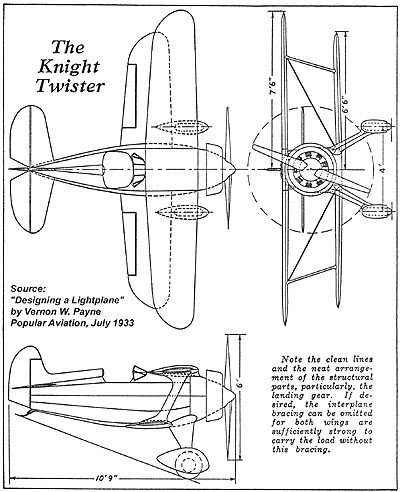Knight twister 3 view drawings