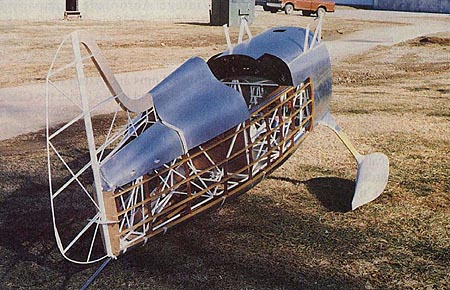 The Knight Twister built by Hale Wallace of Steen Aero Lab, seen shortly before completion in 1998.