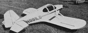 Lamar Steen's Steenship, circa 1968. Photo from Air Progress Homebuilt Aircraft Magazine, Summer 1968.