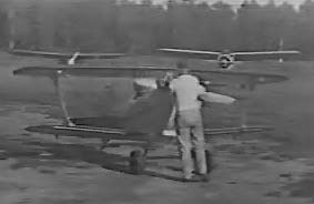 The original Pitts Special is started up for the first test flight (1945)